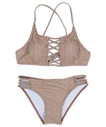 SEA DRESS/フロントレースアップシンプルビキニ/水着/501926015
