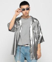 BEAMS MEN/VAPORIZE / Lame Open Shirt<br>/501926213