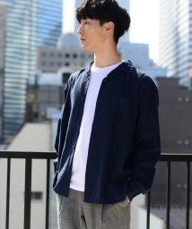 coen/【WEB限定】ワイドフィットリネンレーヨンオープンカラーシャツ/501926339
