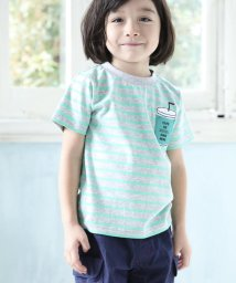 Noeil aime BeBe/【カタログ掲載】天竺ボーダードリンクTシャツ/501926596