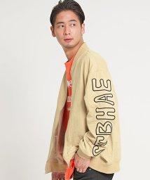CavariA/CavariA【キャバリア】ポリピーチ袖刺繍MA-1ジャケット/501926718