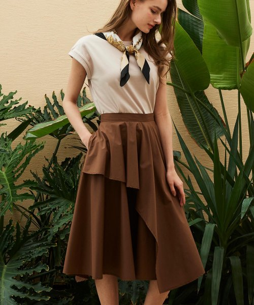 Noela(ノエラ)/★【美人百花 5月号掲載】アシメヘムサマースカート /5932017