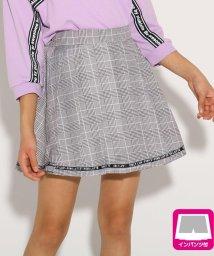 PINK-latte/裾ロゴプリーツ スカート/501927303