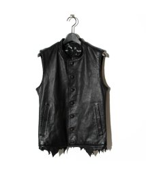 BLACK HONEY CHILI COOKIE/Hand-stitched Leopard Leather Vest/501880340