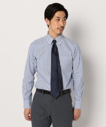 GLOSTER/カラミ織りボタンダウン ストライプシャツ/501899830