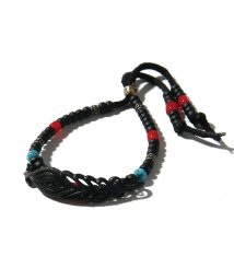 BLACK HONEY CHILI COOKIE/Peacock Feather Beads Bracelet/501904326