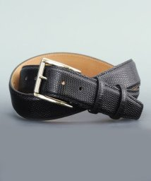 DERADERA/プレディビーノ predibino イタリア製 リザード型押し レザーベルト ブラック 35mm カット可能モデル/501928159