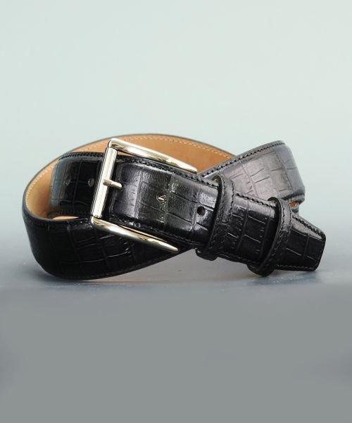 プレディビーノ predibino イタリア製 クロコ型押し レザーベルト レッド 35mm カット可能モデル