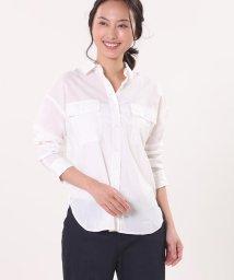 CLEAR IMPRESSION/ドロップショルダーワイドシャツ《キュプラクールミックス》/501935346