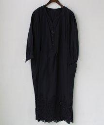 REAL CUBE/裾カットワーク刺繍コットンワンピース/501936529