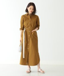 Demi-Luxe BEAMS/Demi-Luxe BEAMS / ベルト付 シャツワンピース/501877950