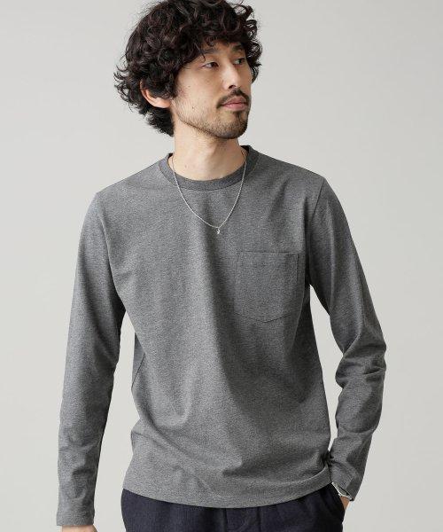 nano・universe(ナノ・ユニバース)/R/CプレーティングクルーネックTシャツ/6689123016