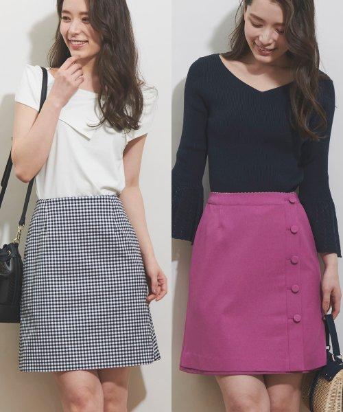 Noela(ノエラ)/【Ray6月号掲載】リバーシブル台形スカート/5932011