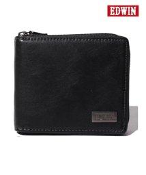 MARUKAWA/【EDWIN】エドウィンダークメタルプレートラウンドファスナー二つ折り財布/501898156