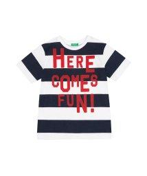 BENETTON (UNITED COLORS OF BENETTON BOYS)/ワイドボーダープリント半袖Tシャツ・カットソー/501905999