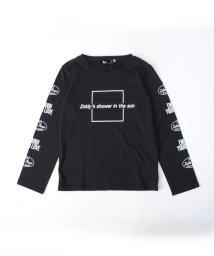 ZIDDY/【カタログ掲載】天竺袖ロゴプリント長袖Tシャツ/501909599