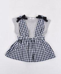 SLAP SLIP/ブロードギンガムビスチェ付きTシャツ/501911091