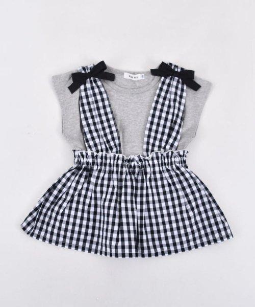 SLAP SLIP(スラップスリップ)/ブロードギンガムビスチェ付きTシャツ/180212509