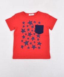 SLAP SLIP/天竺星プリントポケット配色Tシャツ/501911330