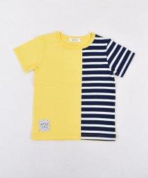 SLAP SLIP/天竺無地+ボーダー切り替えTシャツ/501911333