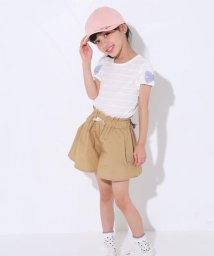 SLAP SLIP/タックフロート天竺袖リボンTシャツ/501911335