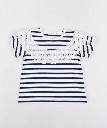 SLAP SLIP/天竺ボーダーレース付Tシャツ/501911336