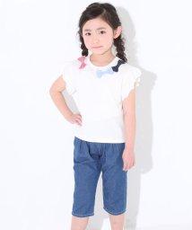 SLAP SLIP/天竺柄リボンTシャツ/501911340