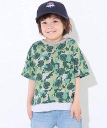 SLAP SLIP/天竺+ダンガリー迷彩BIGTシャツ/501911343