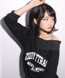 ZIDDY/ミニ裏毛オフショルトレーナー/501919294