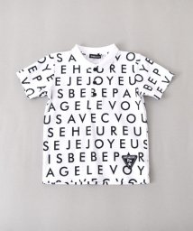 BeBe/スムースロゴプリントエリ付きシャツ/501926504