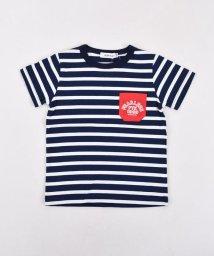 SLAP SLIP/天竺ボーダーポケット付Tシャツ/501926607