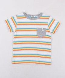 SLAP SLIP/天竺マルチボーダーポケットTシャツ/501926609