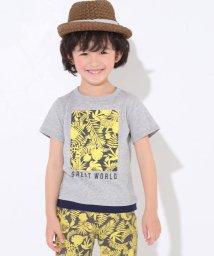 SLAP SLIP/天竺ボタニカルプリントレイヤード風Tシャツ/501926610
