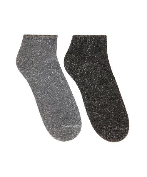 BENETTON (women)(ベネトン(レディース))/ラメアンクルソックス・靴下/19P6AB8E21N6