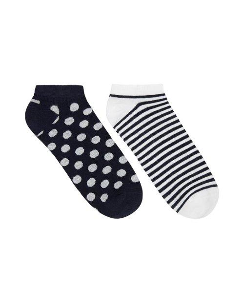 BENETTON (women)(ベネトン(レディース))/マルチパターンアンクルSソックス・靴下2足セット/19P6AO3E21N5