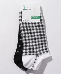 BENETTON (women)/マルチパターンアンクルSソックス・靴下2足セット/501933489