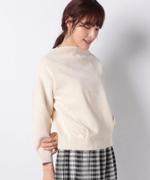 INTERPLANET(インタープラネット)/ハーフミラノ裾タックボリューム袖カットソー/10116003