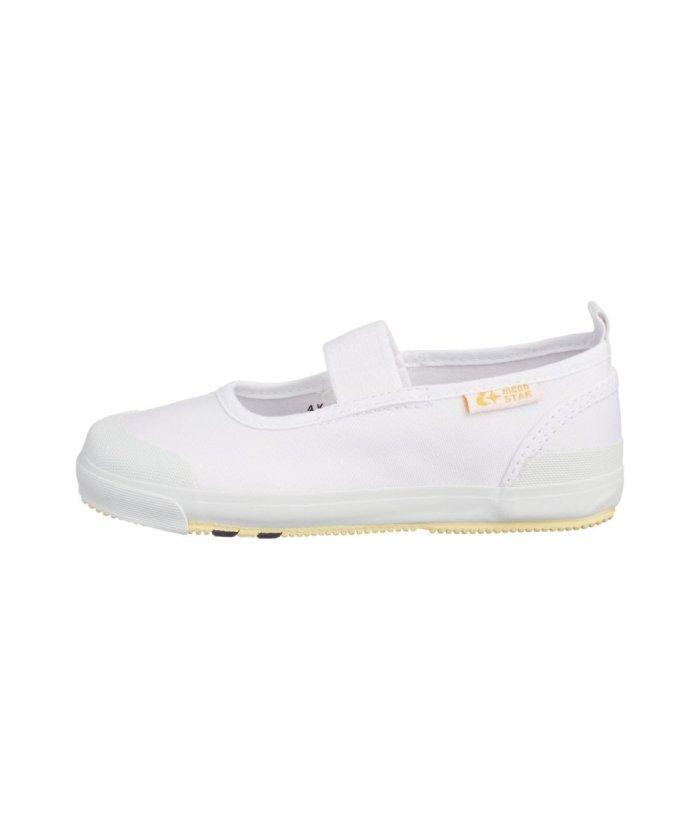 フットプレイス(キッズ) ムーンスター moonstar 室内履き うわぐつ うわばき キャロットCR11 CARROT CR11 キッズ ホワイト 15cm 【FOOT PLACE(Kids)】