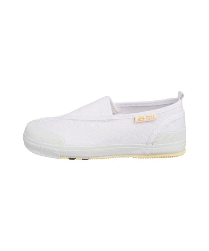 フットプレイス ムーンスター キャロット 上履き 上靴 スクール 男の子 女の子 室内履き TKHS−CR12 キッズ ホワイト 16.5cm 【FOOT PLACE】