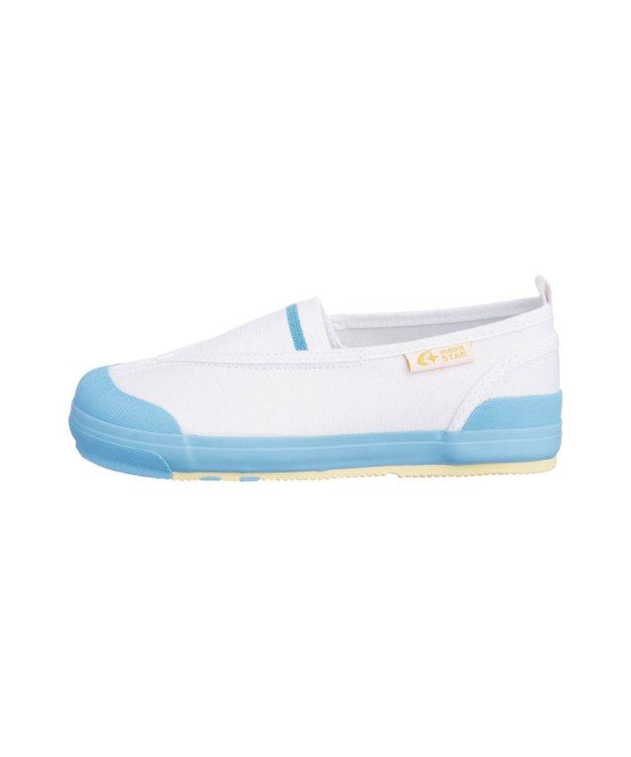 フットプレイス ムーンスター キャロット 上履き 上靴 スクール 男の子 女の子 室内履き TKHS−CR12 キッズ サックス 16cm 【FOOT PLACE】