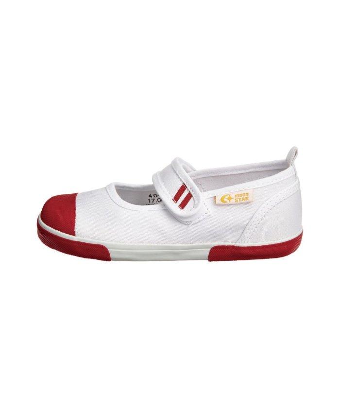 フットプレイス ムーンスター キャロット 上履き 上靴 スクール 男の子 女の子 室内履き TKHS−CR13 キッズ レッド 15cm 【FOOT PLACE】