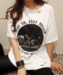 NANING9/NANING9(ナンニング)RIDEONダメージTシャツ-1/501942088