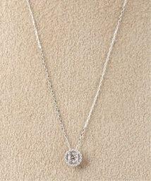 DECOUVERTE/18KWG 0.1ct ダイヤモンド ミルネックレス/501942245