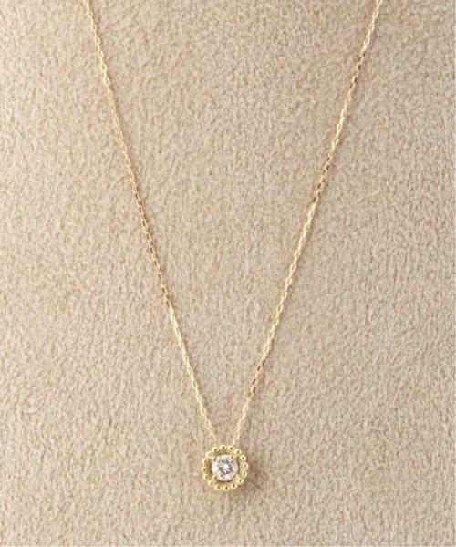 DECOUVERTE(デクーヴェルト)/18KYG 0.1ct ダイヤモンド ミルネックレス/18110895014030