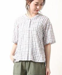 coen/シャーリングチェックセーラーシャツ(チェックシャツ)/501942302