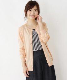 pink adobe/レーヨン混コンパクトカーディガン/501942376