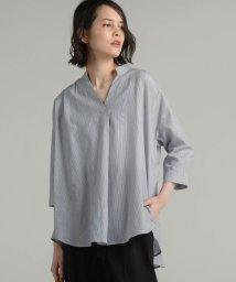 MAYSON GREY/【雑誌掲載】先染めシャンブレーマオカラーシャツ/501942745