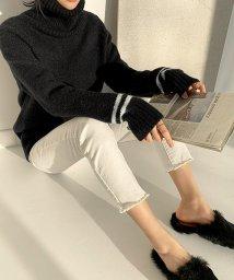 NANING9/NANING9(ナンニング)ポイントライン袖セーター/501898717