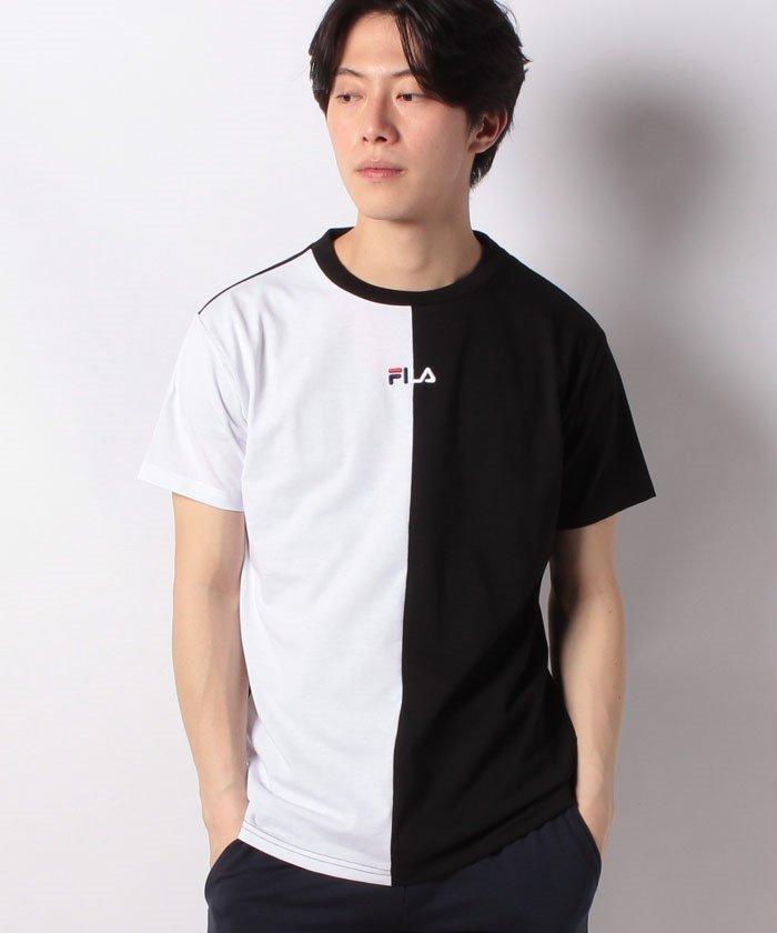 T/Cアシンメトリー半袖Tシャツ