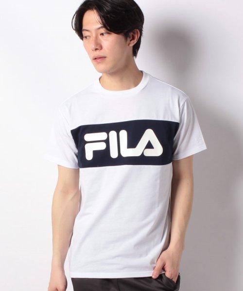 FILA(フィラ)/T/Cフロント切替半袖Tシャツ/419302